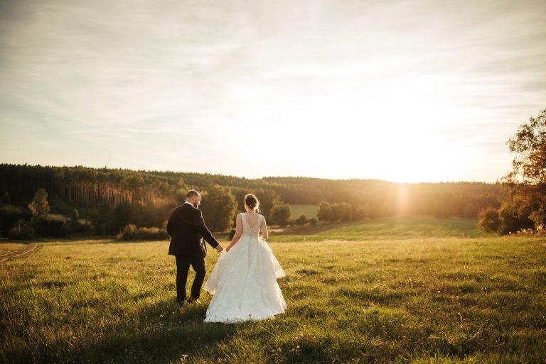 Svatební portréty při západu slunce Příbram