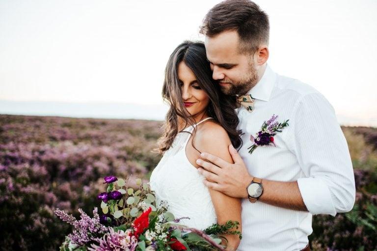 Svatební portréty na vřesovišti v Brdech u Příbrami